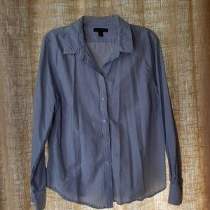 Land's End Cotton Pinstripe Button down